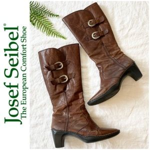 Josef Seibel Brown Leather Boots